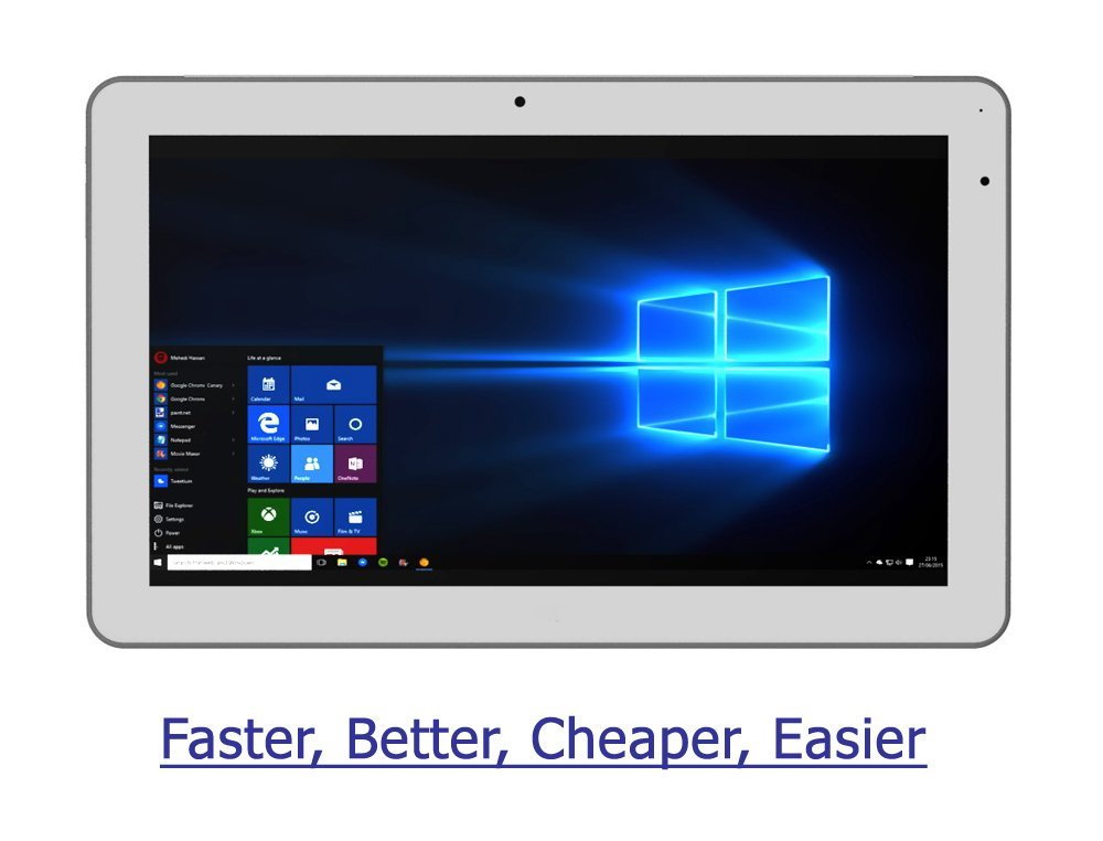 2018 vitalASC 2-in-1 Tablet Laptop Windows 10