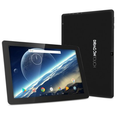 Dragon Touch X10 Android Tablet, 10.1-inch IPS Screen 800x1280, 2GB RAM 16GB Nand Flash Android 7.0 Nougat, Quad Core 4x1.3GHz, Bluetooth and Micro HDMI GMS Certified