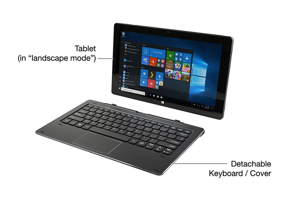 Nuvision Duo 11, 11.6 inch Hybrid 2in1 Tablet - Laptop
