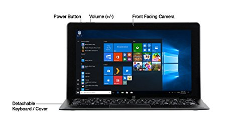 Nuvision Duo 11, 11.6 inch Hybrid 2in1 Tablet - Laptop with Windows 10 Home OS
