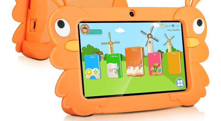2018 TOPELOTEK 7 Inch Kids Tablet PC Quad Core 1024x600 IPS Eye Protect Display 1GB RAM 16GB Storage