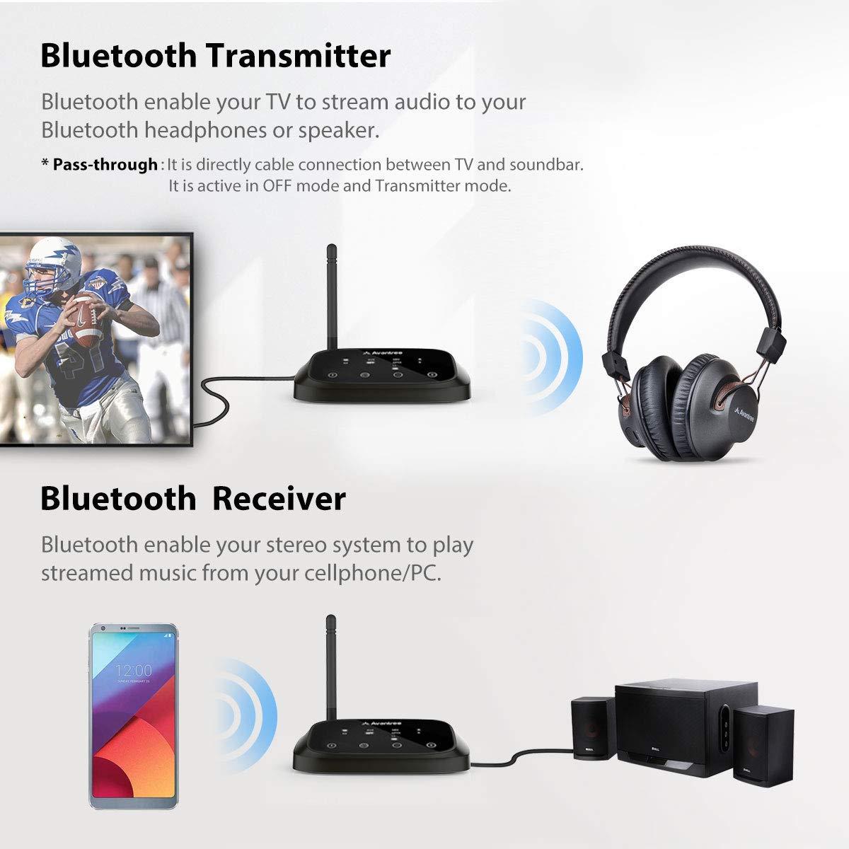 Avantree Oasis Plus aptX HD Long Range Bluetooth Transmitter