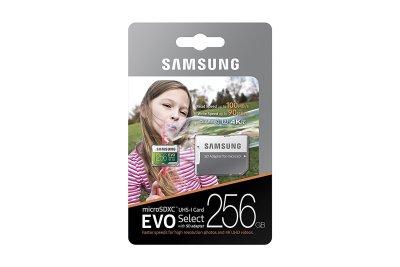 Samsung 256GB MicroSDXC EVO Select Memory Card with Adapter