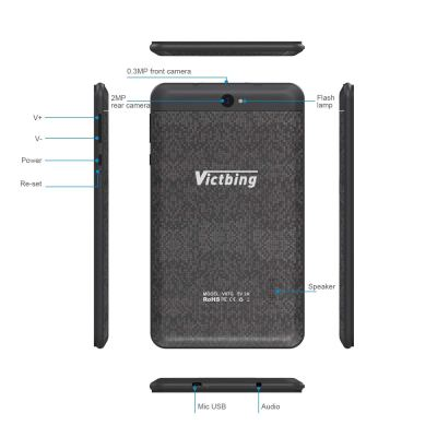 Victbing 7-inch Tablet 3G Phone Call Tablet, Google Android 7.0