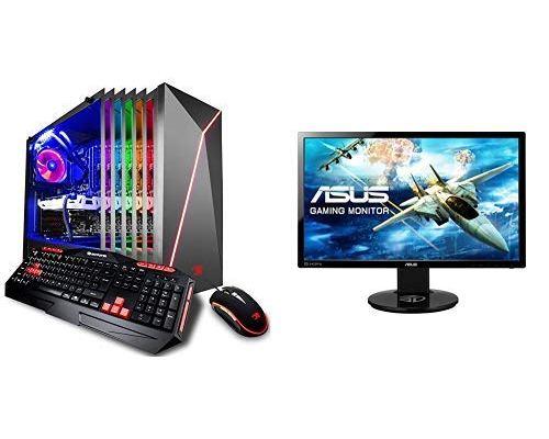 iBUYPOWER Gaming Desktop i7-8700 GTX 1070 + ASUS 24-inch Gaming Monitor
