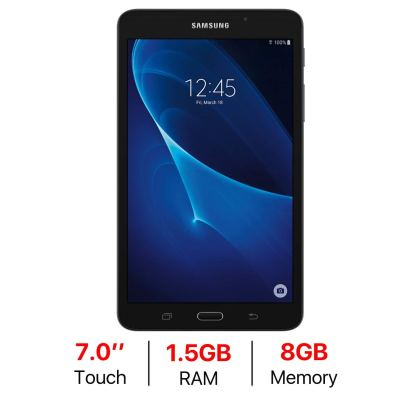 Samsung Galaxy Tab A 7-inch Touchscreen (1280x800) WiFi Tablet, Quad-Core 1.3GHz