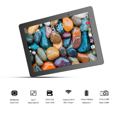 Winnovo VTab 10-inch Android WiFi Tablet, 2GB RAM, 16GB Storage, Quad-Core