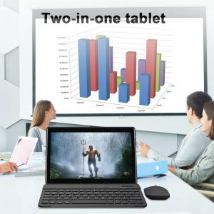 2019 GOWIN 10-inch Android Phone Tablet with Bluetooth keyboard, 2 in 1 Tablet