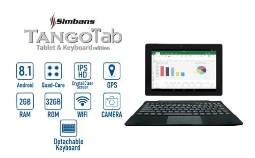 3 Bonus Item Simbans TangoTab 10-inch Tablet with Keyboard 2-in-1 Tablet Laptop