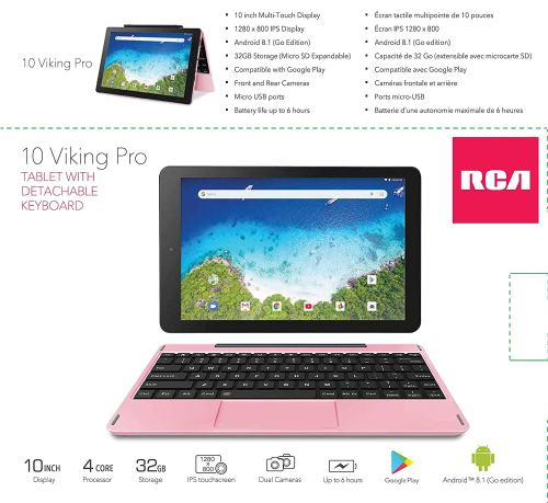 2019 RCA Viking Pro 10.1-inch 2-in-1 Touchscreen Laptop Tablet, 1.3GHz Quad-Core