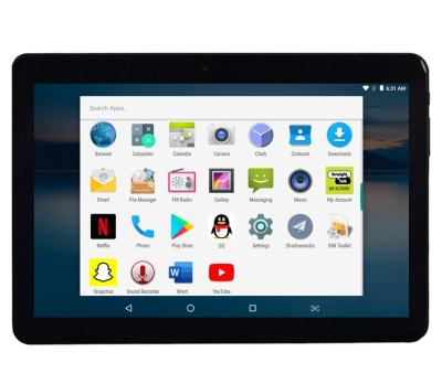 Manjee 10-inch Android Tablet with 2.5D Curved Glass IPS Screen, Unlocked 3G