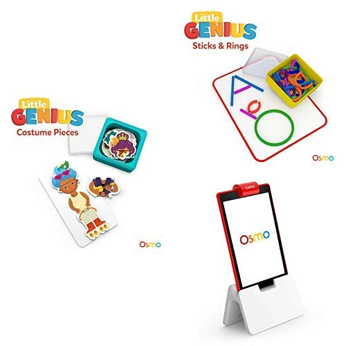 Osmo - Little Genius Starter Kit for Fire Tablet - 4 Preschool Games
