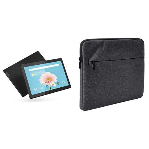 Lenovo Smart Tab M10 2-16 with AmazonBasics Tablet Laptop Sleeve Case