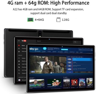 AOYODKG A22 10-inch Android Tablet, HD Touchscreen 2-in-1 Tablet