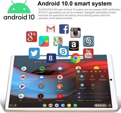DOUDOUGO 2-in-1 Phone Tablet 10-inch Android 10 Tablet