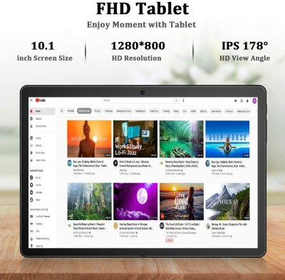 FEONAL 10-inch Phone Tablet, Quad-Core CPU