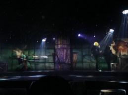 Sanji and Zorro fighting Marines