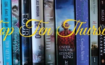 TTT: Top 10 Schrijvers van wie ik meteen een nieuw boek koop