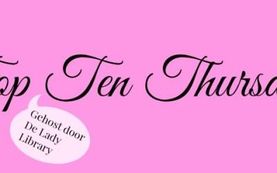 TTT | Top 10 Auteurs van wie ik de meeste boeken heb
