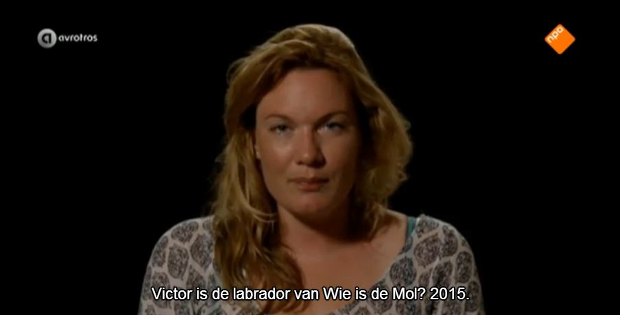 Viktor is de Labrador van Wie is de Mol 2015