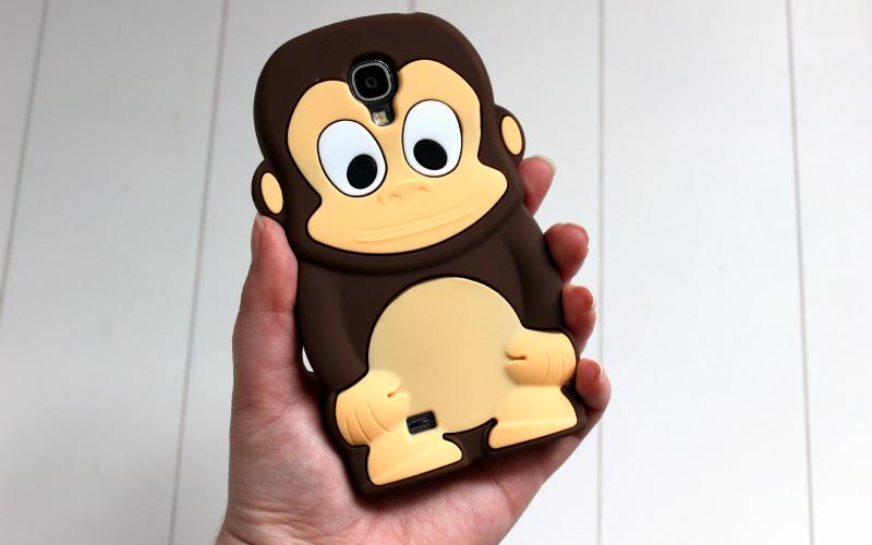 Bruine aap - Silliconen hoesje - Telefoonhoesjesstore