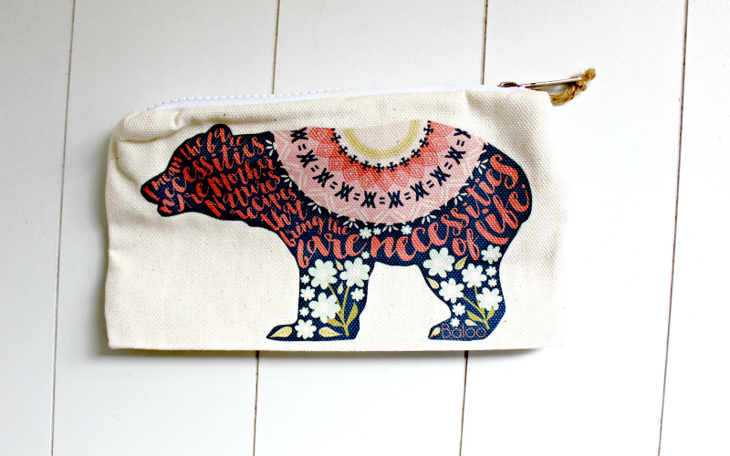 Bare Necessities Pouch by Literary Lifestyle Company