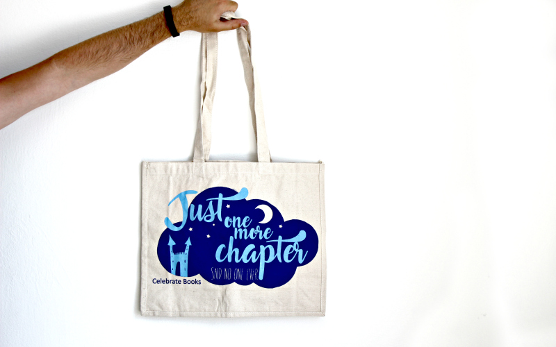 Totebag Celebrate Books Just one more chapter