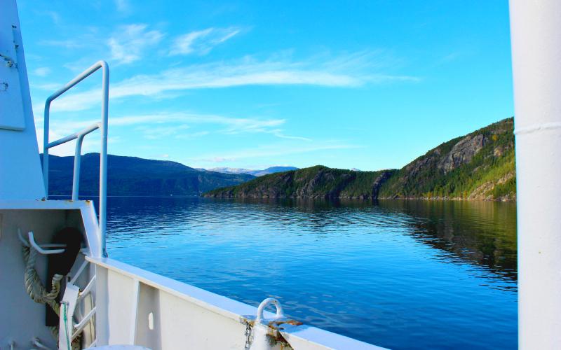 Op de veerboot vanaf Jondal