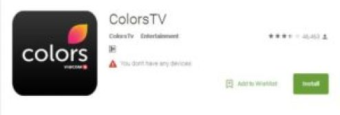 Colors TV App Installation guide