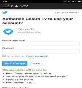 Twitter Voting steps rising star live colors tv app