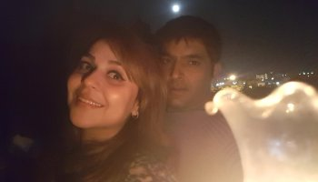 Kapil with his wife Bhavneet aka Ginni