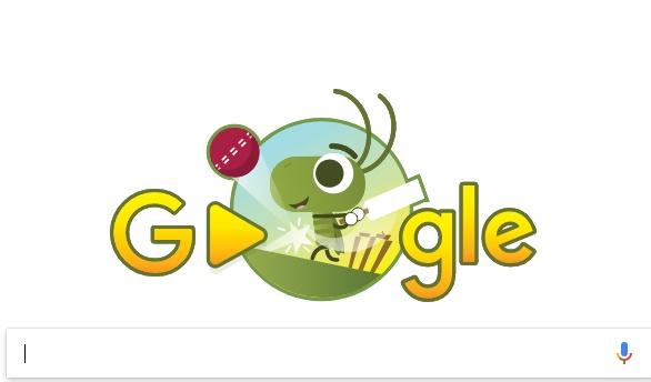 Google doodle celebrating start of ICC champions Trophy 2017