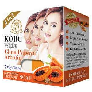 Kojic White Gluta Papaya Arbutin Soap
