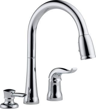 delta 3 hole kitchen faucet