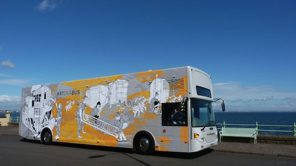 Travelling Gallery, a contemporary ART gallery in a bus...