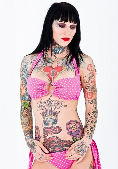 Michelle Bombshell McGee Tattoo Model Picture
