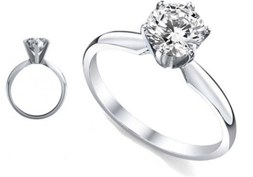 2.75 Ct. Diamond Engagement Ring with Round Diamond Solitaire – J-K, VS2-SI1