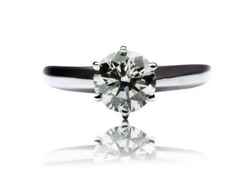 5.25 Ct. Round Diamond Solitaire Engagement Ring D, I3