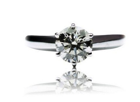 5.75 Ct. Round Diamond Solitaire Engagement Ring D, I3