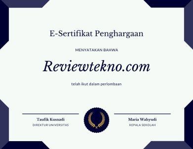 contoh sertifikat penghargaan lomba