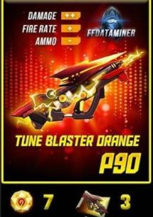 Skin inclubator P90 Tune Blaster Orange paling bagus