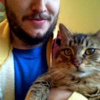 Justin Vernon With A Cat