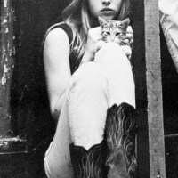 Michele Phillips With A Cat