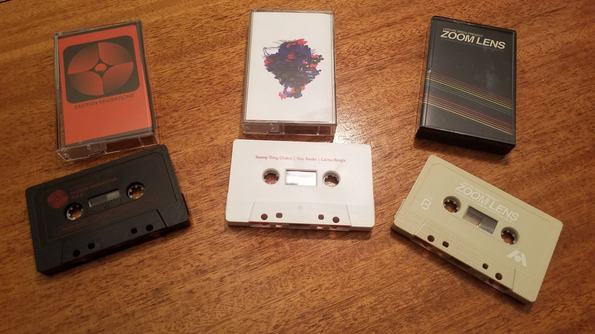 Tape Tuesday: First Three Tapes From Local Label Family Audio Recordings (Leisure Birds outstanding Library Music CS 'Zoom Lens' and New Music From Old Moon & Lighted Zones)