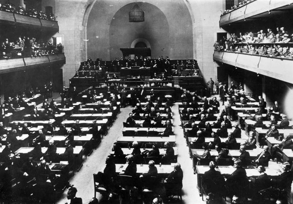 The League of Nations meeting about the Turkish Border