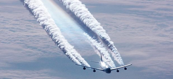 A cloud seeding plane.