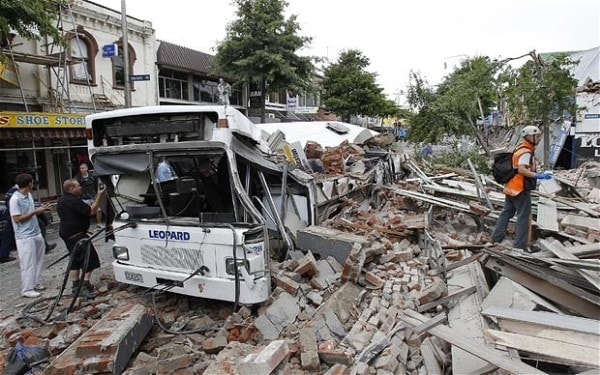 Destruction wreaked by an earthquake. Image credit Telegraph.co.uk