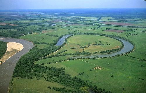 Ox-bow lake. Image credit  airphotona.com