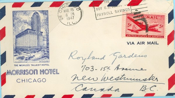 An Airmail envelope. Image credit prexie-era.org
