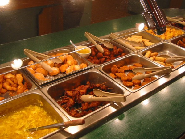 Buffet is an example of self-service. Image credit Media-Wiki